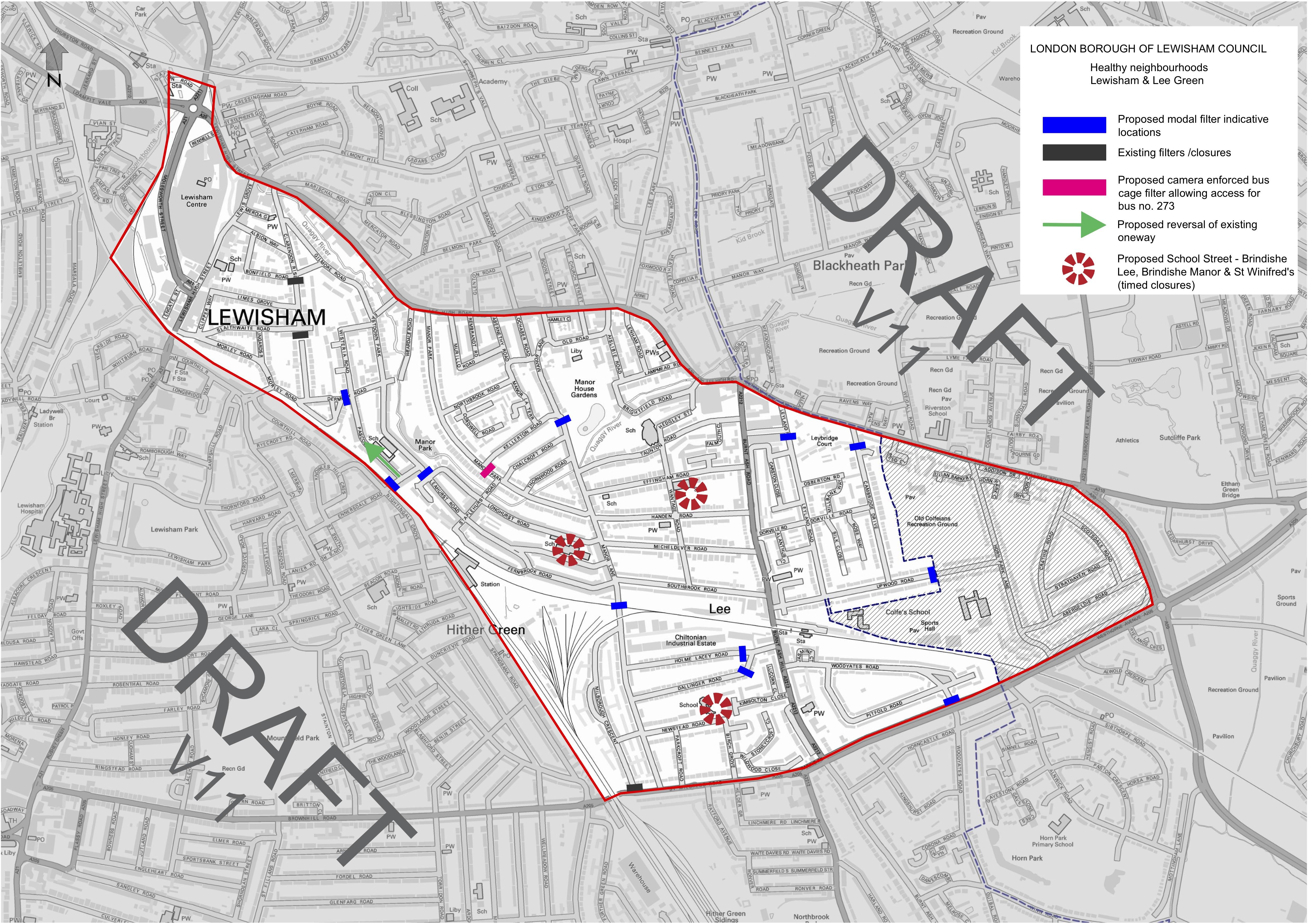 Draft trial locationmap